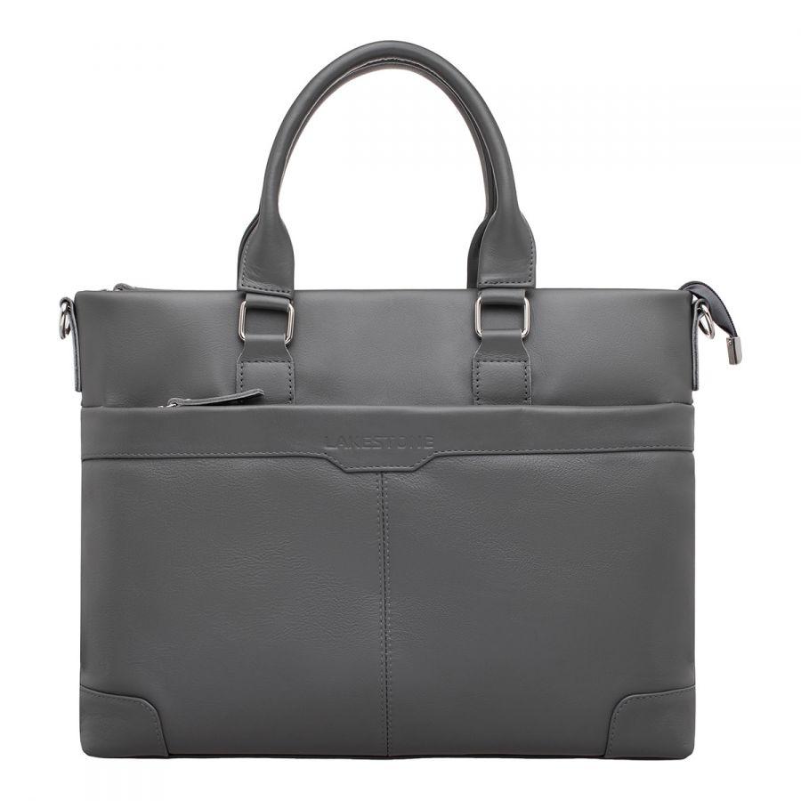Кожаная деловая сумка LAKESTONE Gilroy Grey