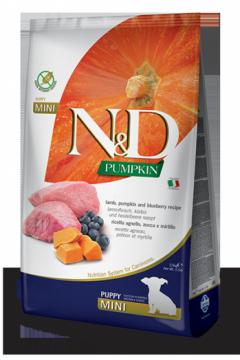 N&D Lamb Pumpkin & Blueberry Puppy Mini (ягненок, тыква и черника для щенков мелких пород)