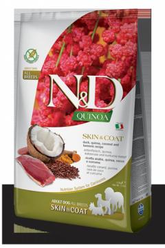 N&D Dog Quinoa Skin&coat Duck (Утка, киноа, кокос и куркума. Здоровье кожи и шерсти)