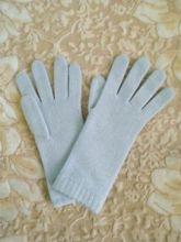 Кашемировые вязаные перчатки для Леди удлиненные с короткой манжетой (100% драгоценный кашемир), цвет Лазурная пудра. CASHMERE SHORT CUFF GLOVES POWDER BLUE