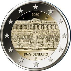 Потсдам (Дворец Сан-Суси) 2 евро Германия 2020 Монетный двор на выбор