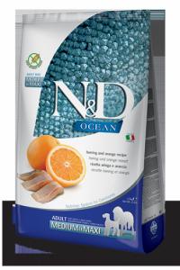 N&D Ocean Herring & Orange medium&maxi adult (Сельдь и апельсин б/з корм для взрослых собак средних и крупных пород)
