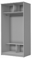 Шкаф купе с двумя дверями внутри