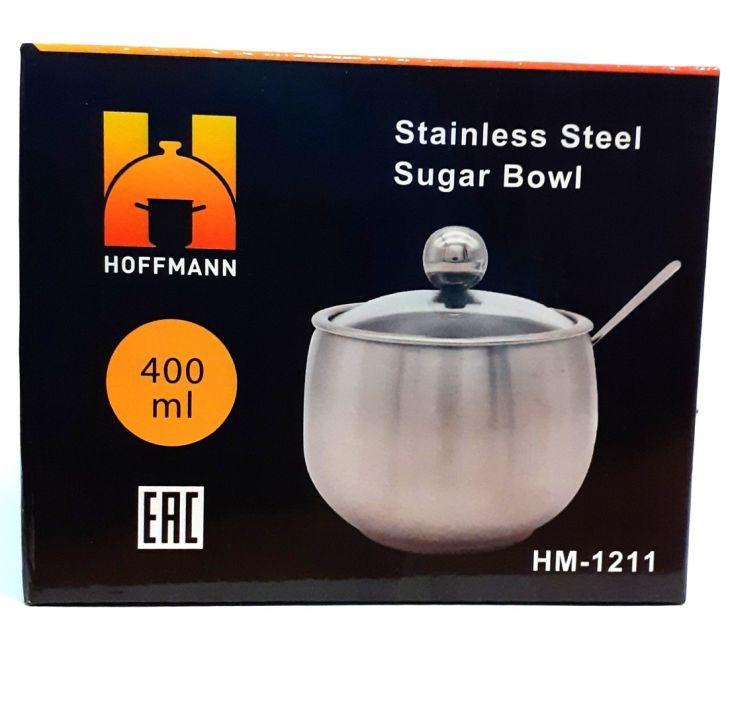 Сахарница с ложкой металлическая 400 мл HM 1211