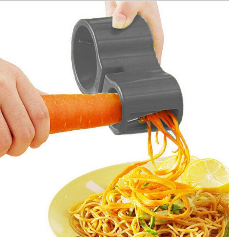 Нож спиральный двойной с точилкой для ножей Spiral Cutter Sharpener (цвет чёрный)