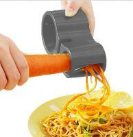 Нож спиральный двойной с точилкой для ножей Spiral Cutter Sharpener (цвет чёрный)_1