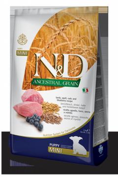 N&D Low Grain Lamb & Blueberry Puppy Mini (ягненок+черника для щенков мелких пород)