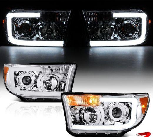 Головные фары Лед лента Toyota Tundra Тойота Тундра 2007-2013г. Cеквойя 2007-13г.