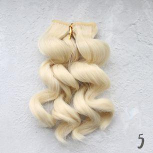 Трессы для создания причеcки куклам - Тёплый блонд, 20 СМ