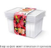 ХОЗЯЮШКА Мила.Контейнеры для заморозки ягод, овощей, фруктов 1,5л 5шт, шт