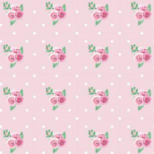 Лимитированная коллекция Арт-ткани Хлопок Сатин Розы на розовом