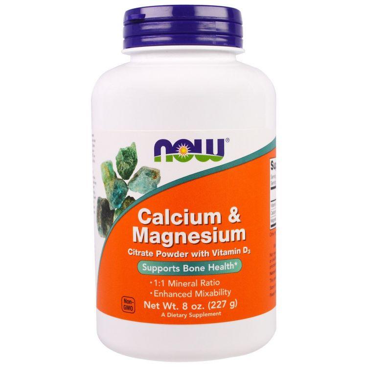 Calcium Magnesium Powder от NOW  Кальций Магний в порошке 227 гр