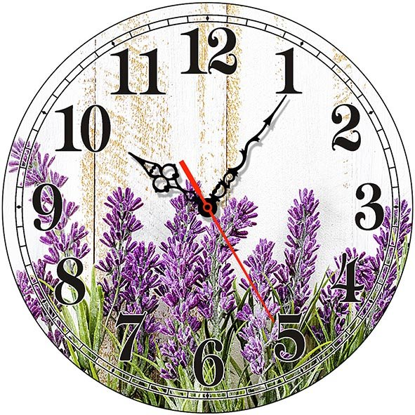 Часы деревянные ЛАВАНДА ПРОВАНС ЧС-02.10