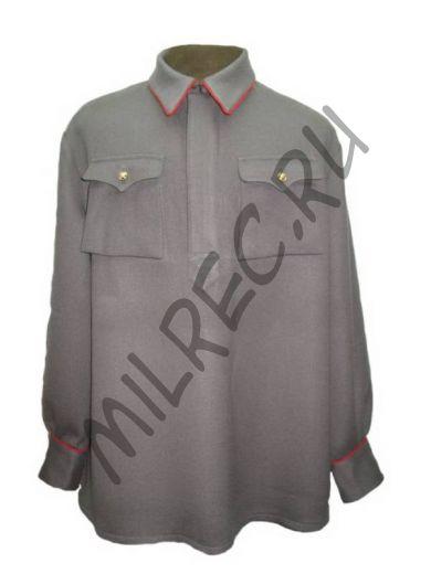 Гимнастерка (рубаха) полушерстяная для комначсостава бронетанковых войск обр. 1935 г.,  реплика  (под заказ)