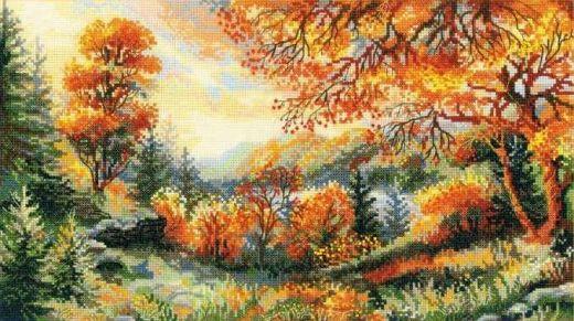 Набор для вышивания крестом Багряная осень №1314 фирма Риолис