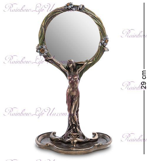 """Зеркало девушка с цветами """"Veronese"""""""