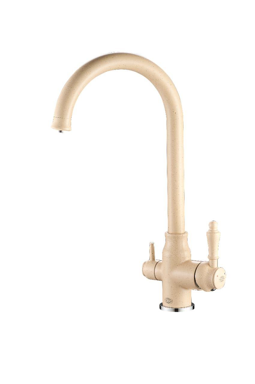 Смеситель для кухни с выходом под фильтр Vaserzberg VS1763 (песочный)