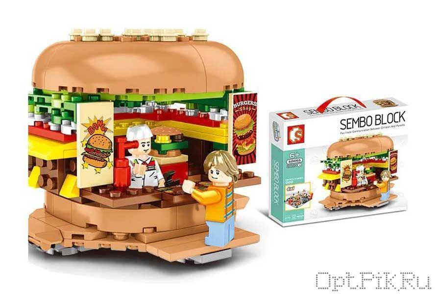 "Конструктор кафе ""Гамбургер"" Sembo Block"