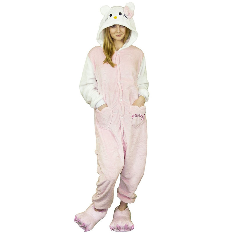 Пижама Кигуруми Кошка Розовая