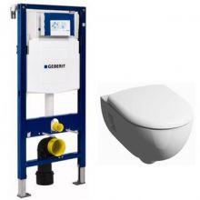 Комплект инсталляция и унитаз безободковый подвесной GEBERIT Duofix KERAMAG