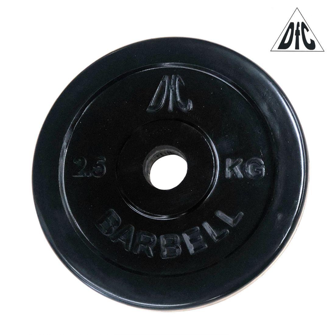 Диск обрезиненный DFC, чёрный, 26 мм, 2,5кг