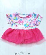 Платье с пони и розовой юбкой