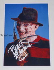 Автограф: Роберт Инглунд. Кошмар на улице Вязов