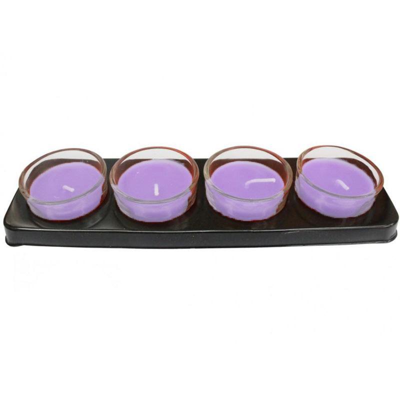 Ароматические свечи The Best Fragrance 4 шт (Лаванда)