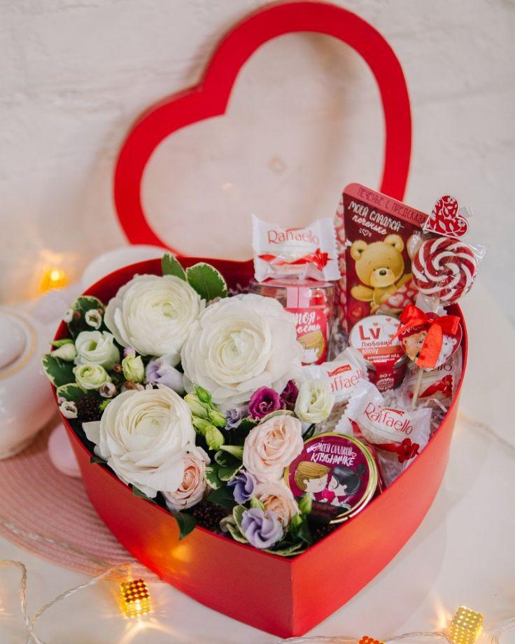 """Коробка с цветами """"Романс"""""""