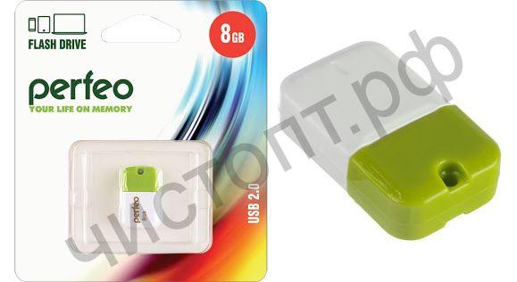 флэш-карта Perfeo 8GB M04 Green мини брелок
