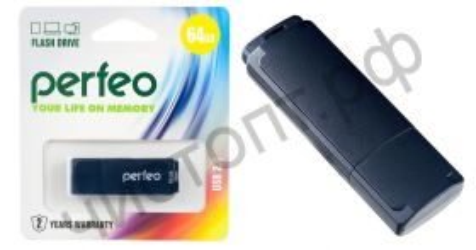флэш-карта Perfeo 64GB C04 Black