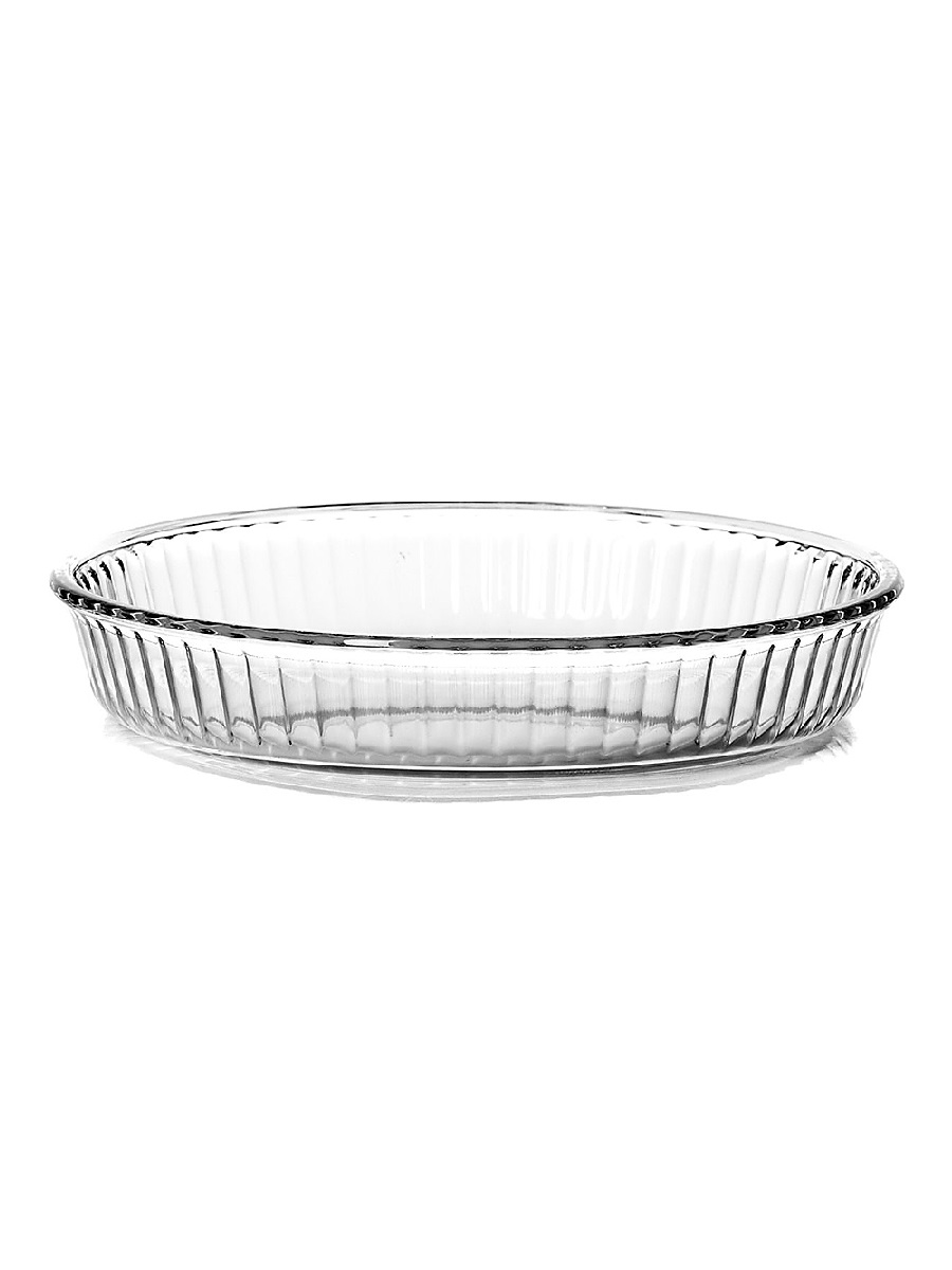 Круглая форма для запекания 1,72 литра Borcam 59044 жаропрочная стеклянная форма для СВЧ 26x4,5 см прозрачная