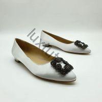 Балетки Маноло Бланик (Manolo Blahnik) белые купить в интернет магазине