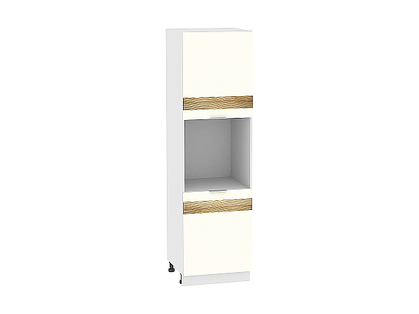 Шкаф-пенал под бытовую технику Терра ШП600H D (Ваниль софт)