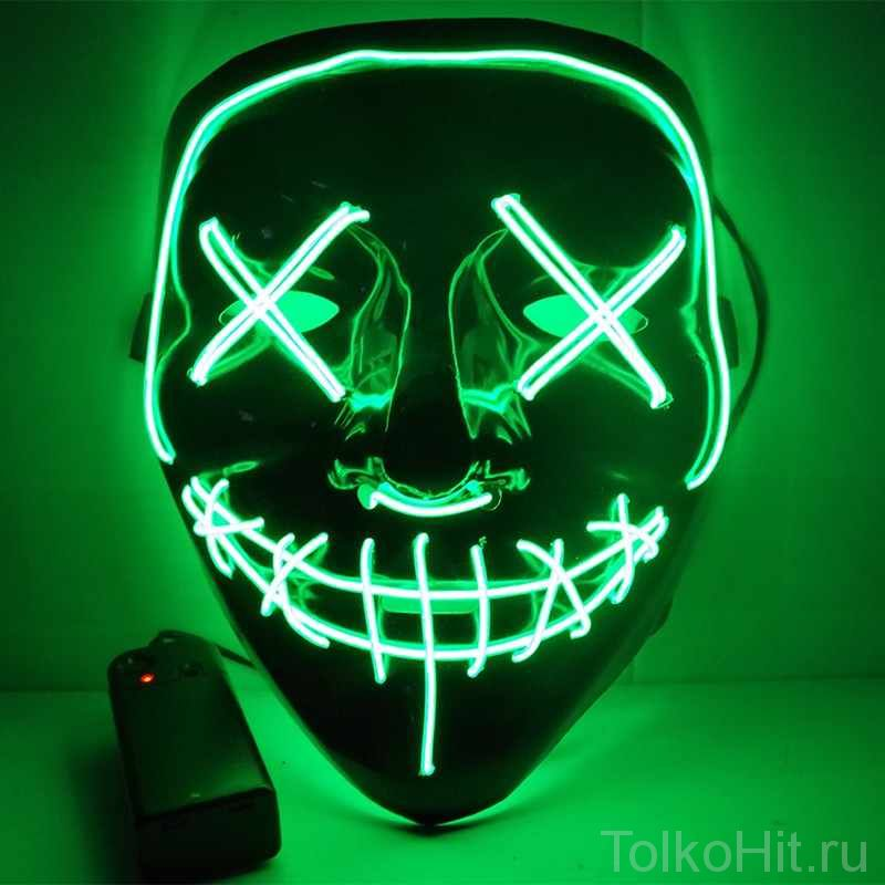 Неоновая маска Судная ночь Зеленый