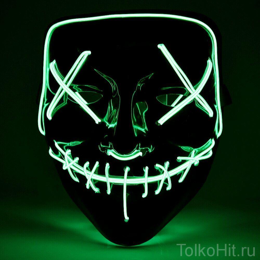 Неоновая маска Судная ночь Салатовый