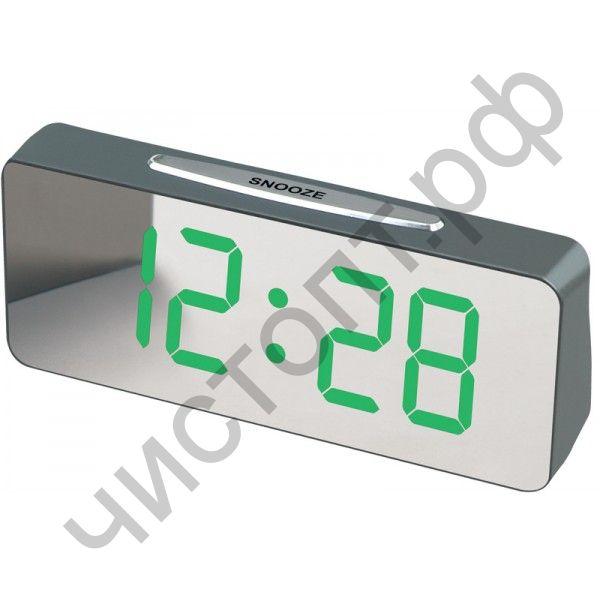 Часы  эл. сетев. VST763Y-4 зел.цифры (без блока) (5В)
