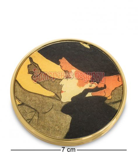 "pr-M35TL Зеркальце ""Японский диван"" Анри де Тулуз-Лотрек (Museum.Parastone)"