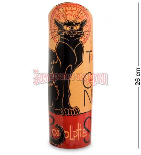 "pr-SDA14 Ваза ""Le Chat Noir"" Теофиль-Александр Стейнлен (Silhouette d'art Parastone)"