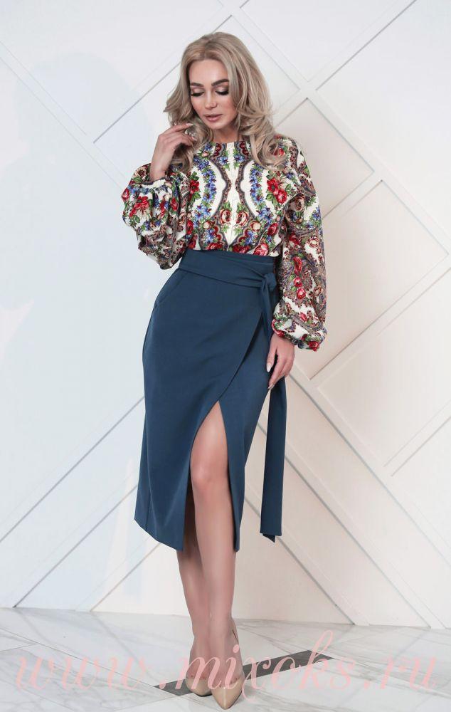 Блузка в русском стиле