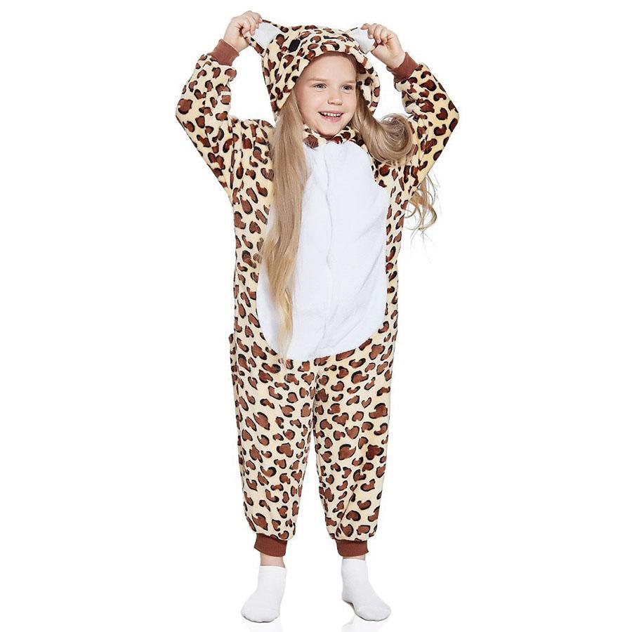 Детская Пижама Кигуруми Леопард