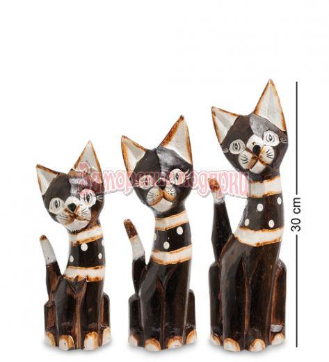 """99-150 Фигурка """"Кошка"""" н-р из трех 30,25,20 см (албезия, о.Бали)"""