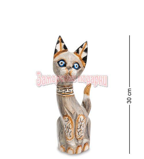 """99-023 Статуэтка """"Кошка"""" 30см (албезия, о.Бали)"""