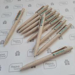 ручки из пшеницы с логотипом