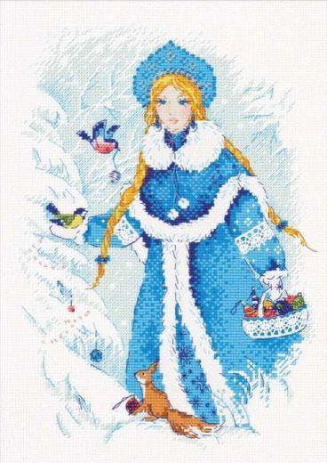 Набор для вышивания крестом Снегурочка №1415 фирма Риолис