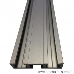 Шина c тремя направляющими T-track 1,5м 51 мм анодированная серебро матовое TR051.1500
