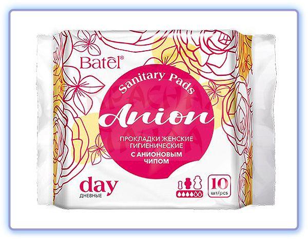 Прокладки женские гигиенические дневные с анионовым чипом Batel