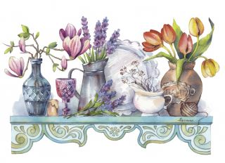 Postcard Spring shelf