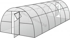 """Теплица """"Усиленная"""" ширина: 3м, высота: 2,1м , длина: 6м ,  профильная труба 20*40*1,5мм"""