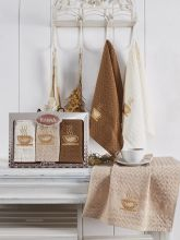Комплект вафельных полотенец SALVA (45*65)*3  Арт.3476-2